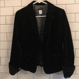 Black Velvet J. Crew Blazer Size 6